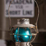 Trainman's lantern, kerosene, purchased new at the Colorado Railway Museum, circa 1960. Never used in RR service. Generous gift of Gordon Bachlund.