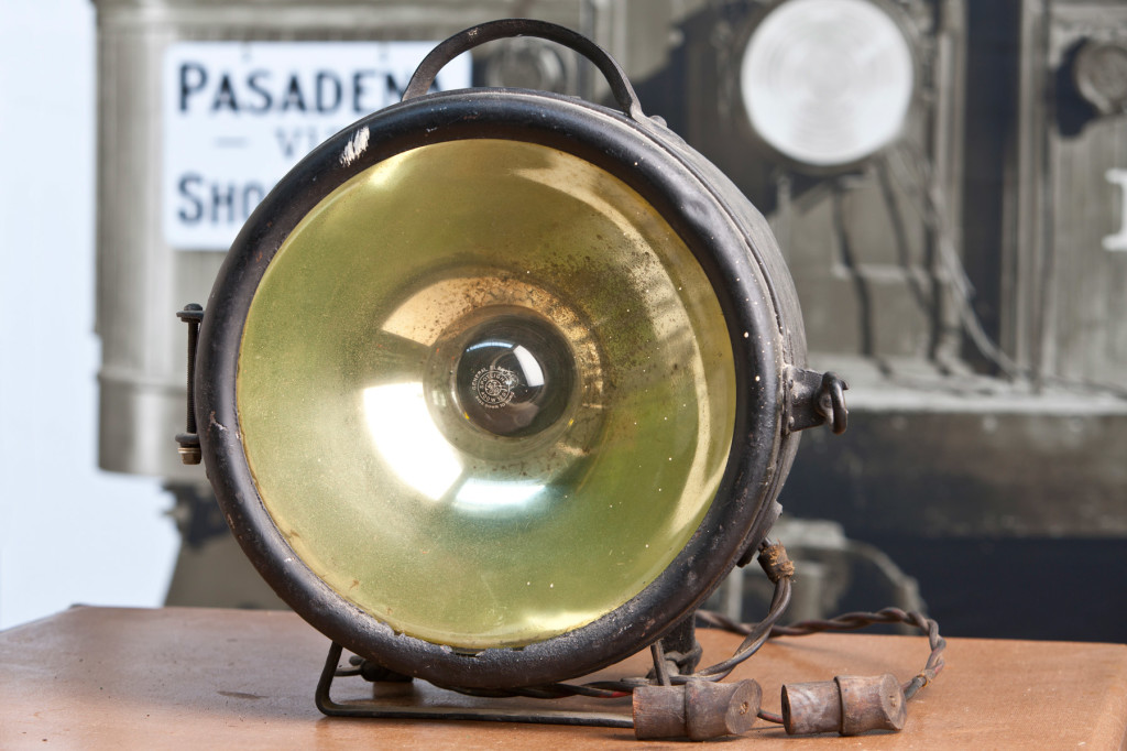 PE interurban headlight acquired from a car (number unknown) at Morgan Yard in Long Beach shortly after cessation of service. Wiring and connectors are original. Generous gift of Gordon Bachlund.