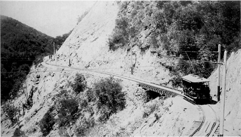 An 1886 view of the Mount Lowe Railway. Alan Weeks Collection.