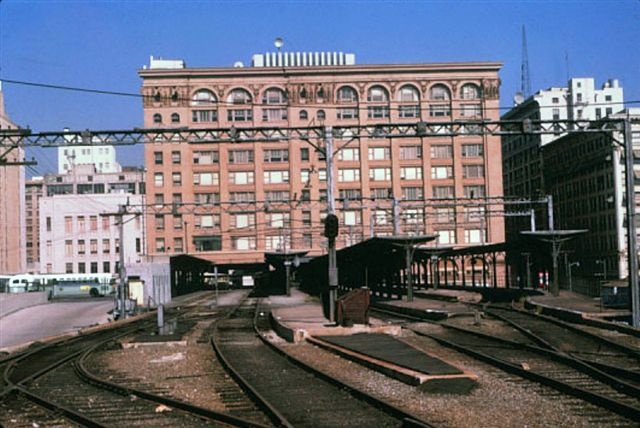 6th and Main platforms after abandonment