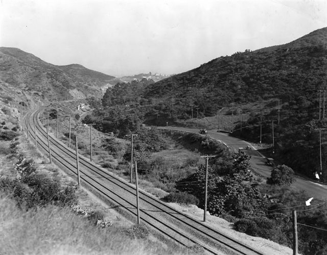 PE Tracks in the Cahuenga Pass, 1922. Ralph Cantos Collection