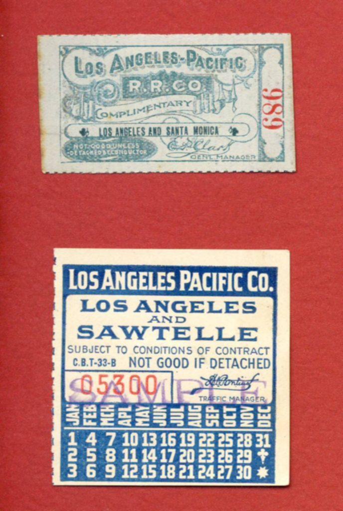 LA&P ticket stub Santa Monica