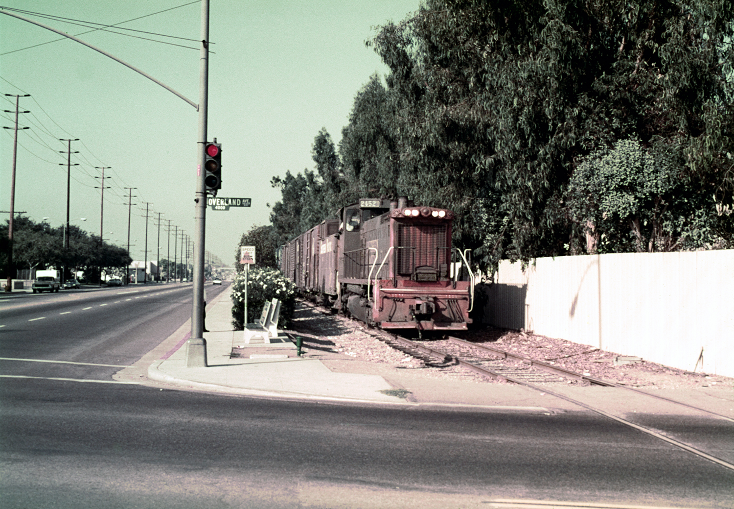 Southern Pacific 2452 at Overland in Culver City - Pacific