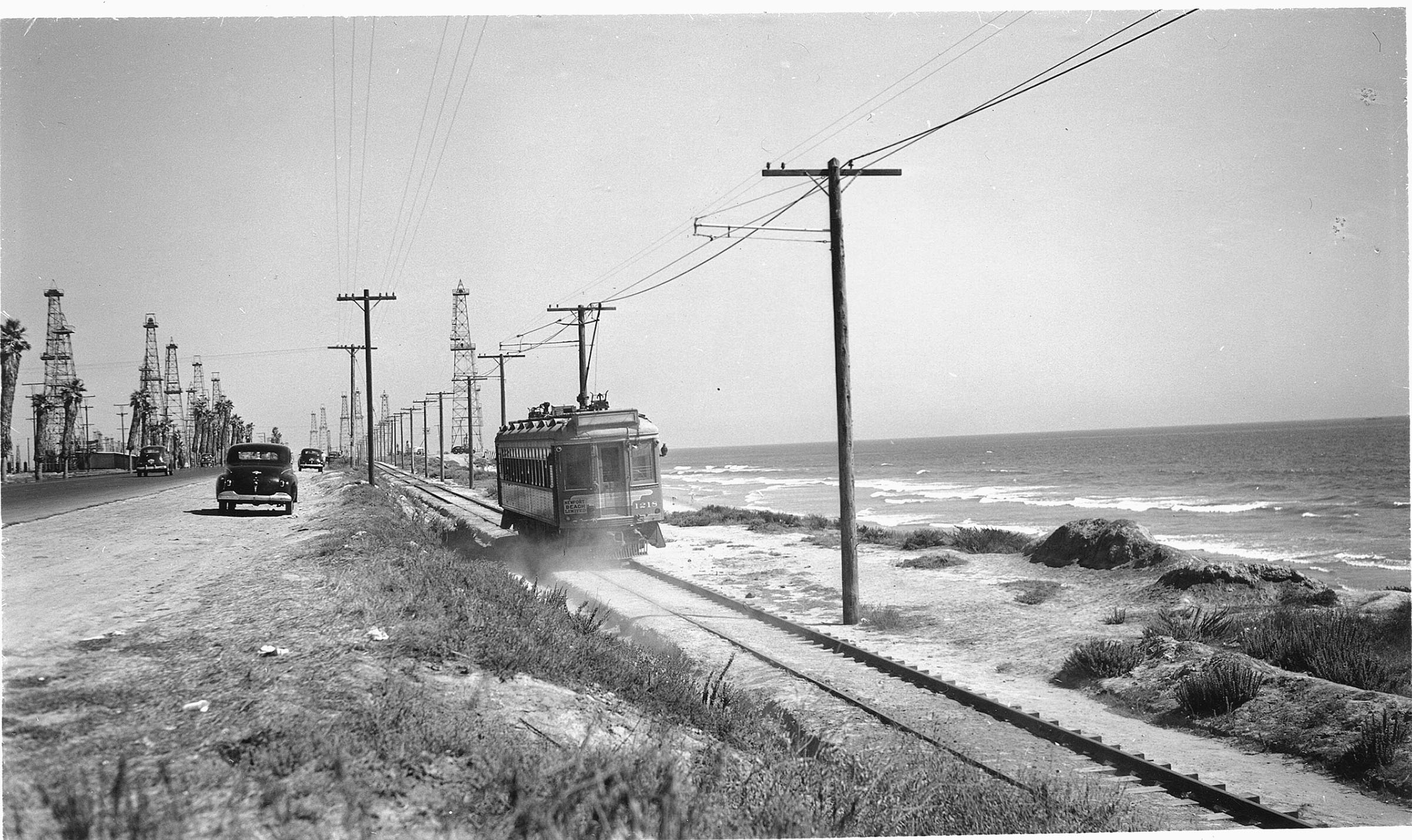 Pacific Electric 1218 Southbound Near Huntington Beach 1946