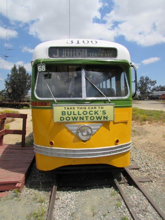 Here is car no. 3100, now preserved at OERM, displaying the BULLOCKS card holder that adorned every LATL PCC.