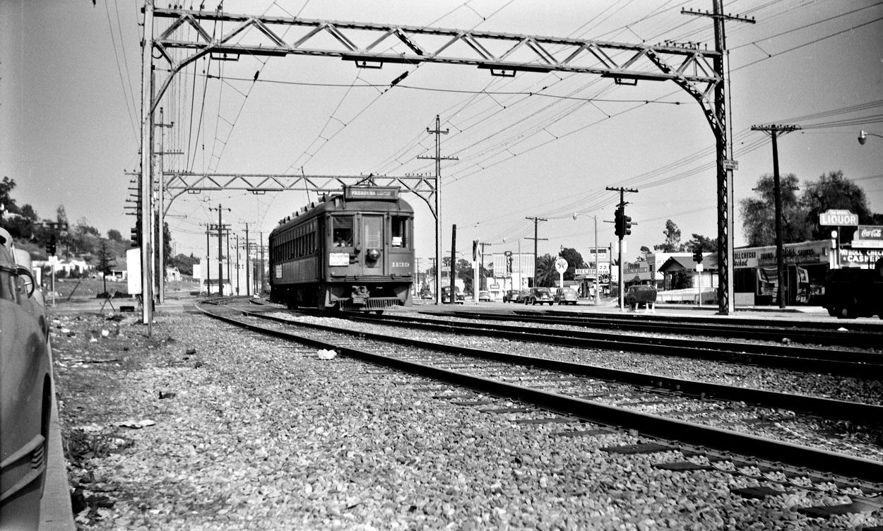 PE 1139 Pasadena Short Line, El Sereno, September 30, 1950