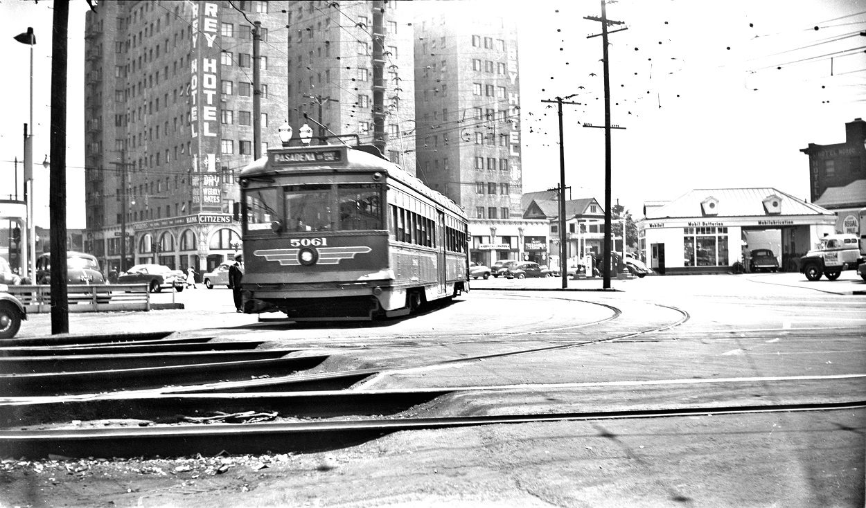 PE 5061 Pasadena Short Line, San Pedro Street Station Ramp, June 7, 1951
