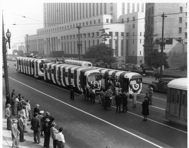 Candy Cane Car Roll-Out, 1948.