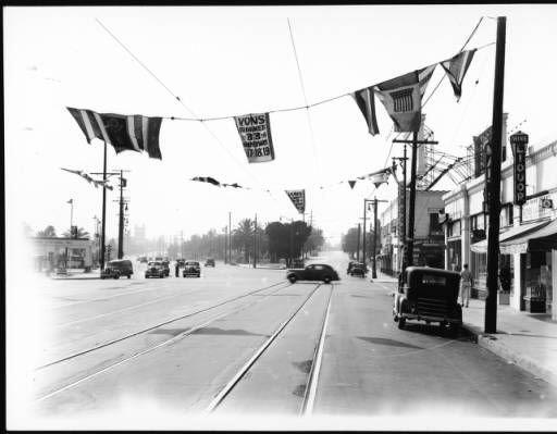 LARy L Line tracks at W. 10th & Crenshaw, 1939
