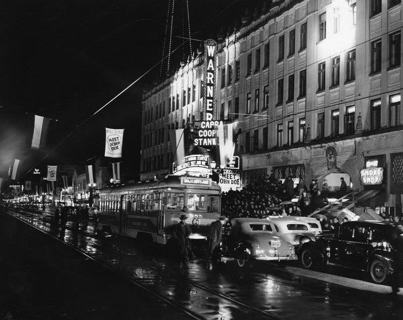 Pacific Electric no. 655 on Hollywood Blvd., 1941
