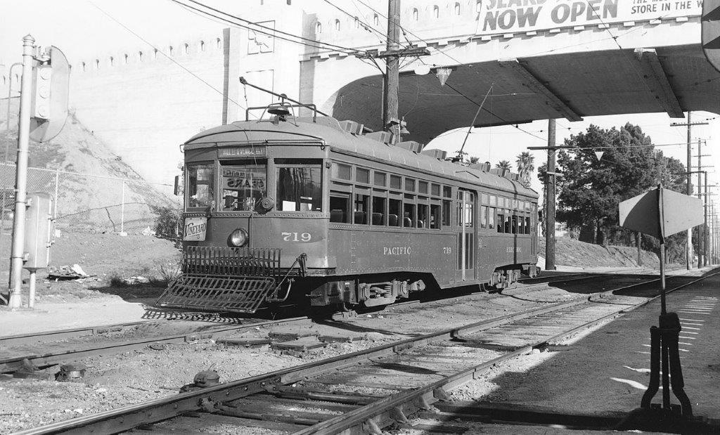 Pacific Electric no. 719 at Vineyard Junction, 1939