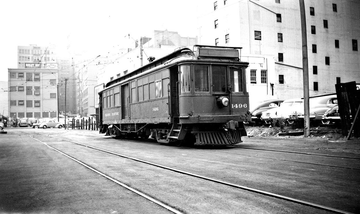 440-PE 1496 Surface Tracks Main Street Station, 9/20/1950
