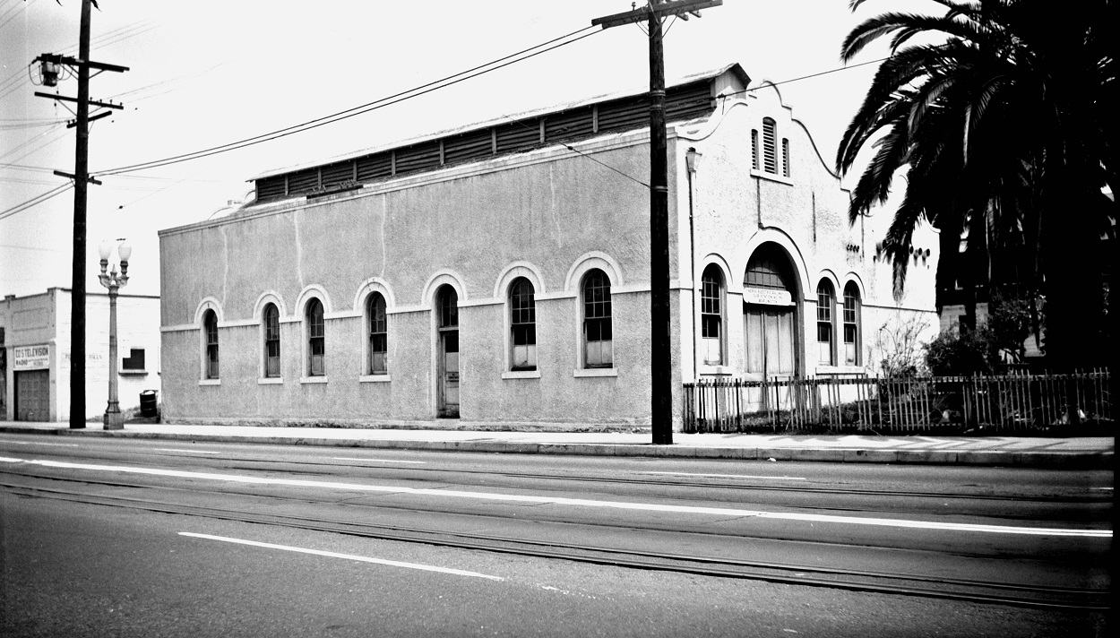 Alan K. Weeks photo. All Rights Reserved. Domino6145@aol.com Photographer: Alan K Weeks Location: Date: June 1951 Railroad: Pacific Electric Car#: P.E. Burlington Sub Station # 36 Line: Filed in Envelope 26 Image Notes: Scanned Steve Crise Photo 2014
