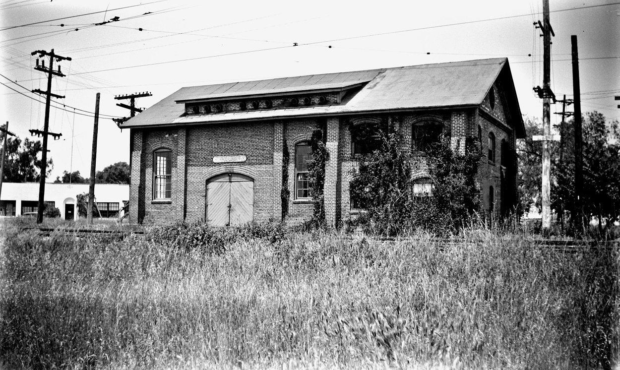 Alan K. Weeks photo. All Rights Reserved. Domino6145@aol.com Photographer: Alan K Weeks Location: Stanton California Date: June 2 1952 Railroad: Pacific Electric Car#: P.E. Staton Sub Station # 13 Line: Filed in Envelope 26 Image Notes: Scanned Steve Crise Photo 2014