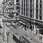 "Cover artwork for ""This is Pacific Electric,"" a company brochure from 1944"