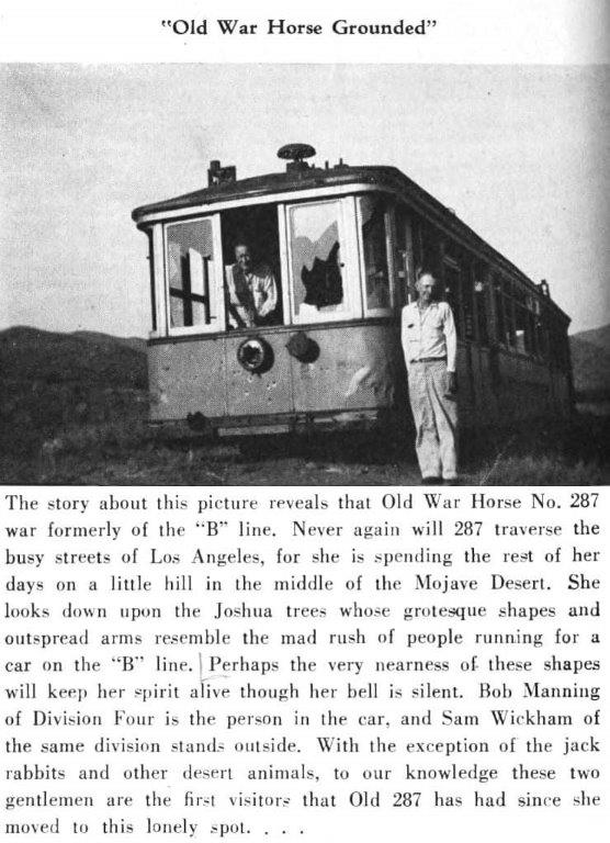Los Angeles Railway after being saved and moved to the Antelope Valley